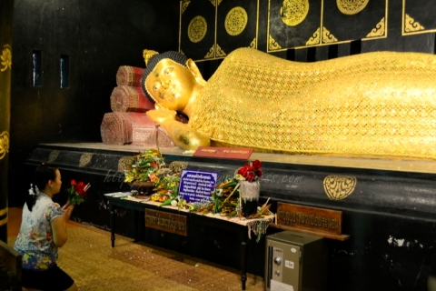 reclining buddha wat chedi luang